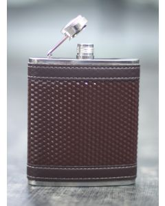 HIP FLASK LEATHERETTE DOTTED