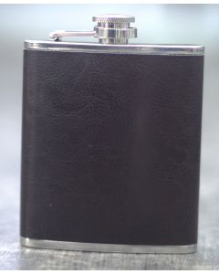 HIP FLASK LEATHERETTE PLAIN