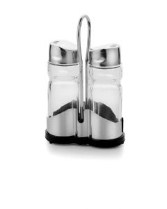 SALT & PEPPER SHAKER WITH STAND SANA
