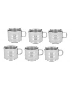 TEA CUP SOBER 10 RING SET OF 6 PCS